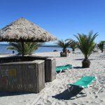 Unbesetzte Beachbar