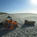 Strandmuscheln und Luft-Loungeliege