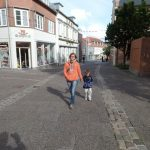Ausgestorbene Fußgängerzone
