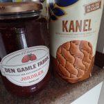 Jordbær Marmelade und Kanel Knäckebrot